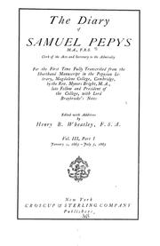 Cover of: The diary of Samuel Pepys by Samuel Pepys