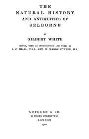 The natural history and antiquities of Selborne by White, Gilbert