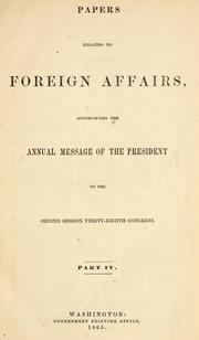 Papers relating to foreign affairs by United States. Department of State.