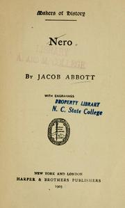 Cover of: Nero by Jacob Abbott