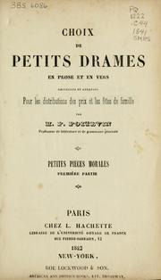 Choix de petits drames en prose et en vers
