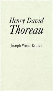 Henry David Thoreau by Krutch, Joseph Wood