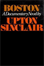 Boston by Upton Sinclair