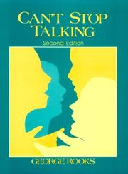 Can't stop talking by George Rooks