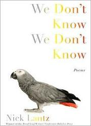 Cover of: We Don't Know We Don't Know by Nick Lantz
