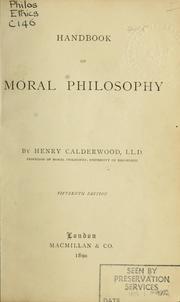 Handbook of moral philosophy.