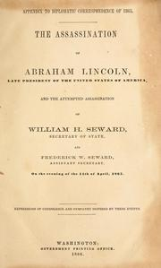 Cover of: The assassination of Abraham Lincoln, late president of the United States of America by United States. Department of State.