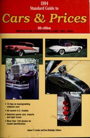 1994 standard guide to cars & prices by