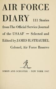 Cover of: Air force diary by