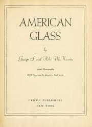 American glass by George S. McKearin
