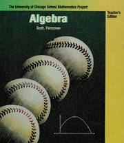 Cover of: Algebra by John W. McConnell ... [et al.] ; the University of Chicago School Mathematics Project.