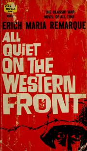 Cover of: All Quiet on the Western Front | Erich Maria Remarque