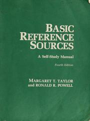Basic reference sources by Taylor, Margaret
