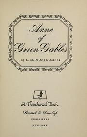 Cover of: Anne of Green Gables by L. M. Montgomery