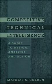 Competitive technical intelligence by Mathias M. Coburn