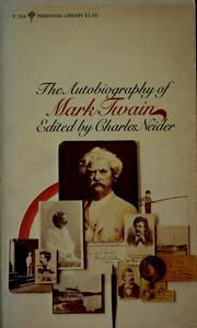 Cover of: The autobiography of Mark Twain by Mark Twain