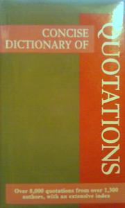 Concise Dictionary of Quotations by Pocket Reference Library