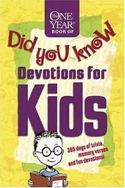 The One Year Book of Did You Know Devotions for Kids PDF