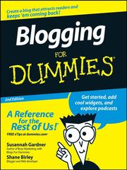 Blogging for dummies by Susannah Gardner