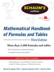Mathematical handbook of formulas and tables by Murray R. Spiegel