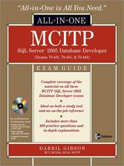 MCITP SQL server 2005 database developer by Darril Gibson