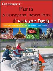 Frommer&#39;s Paris &amp; Disneyland with your family by Anna Brooke