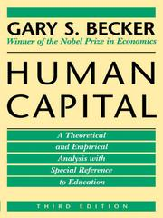 Human capital by Gary Stanley Becker
