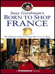 Suzy Gershman's born to shop by Suzy Gershman