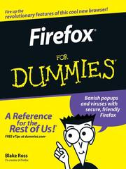 Firefox for dummies by Blake A. Ross