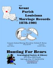 Cover of: Grant Par LA Marriages 1878-1901 by