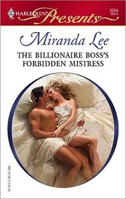 Cover of: The Billionaire Boss's Forbidden Mistress by Miranda Lee