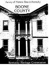 Survey of Historic Sites in Kentucky : Boone County by Kentucky Heritage Commission