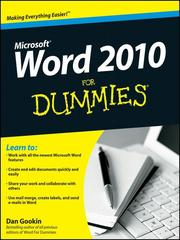 Cover of: Word 2010 For Dummies® by Dan Gookin