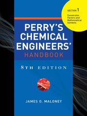 Perry's Chemical Engineers' Handbook, Section 1 PDF