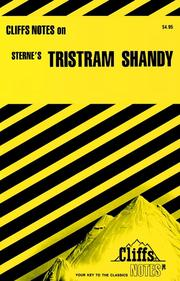 CliffsNotes on Sternes Tristram Shandy