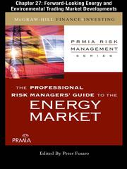 Cover of: Forward-Looking Energy and Environmental Trading Market Developments by Professional Risk Managers' International Association (PRMIA)