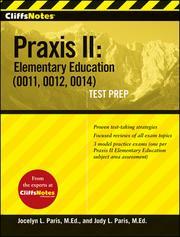 CliffsNotes Praxis II PDF