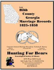 Bibb Co GA Marriages 1814-1858