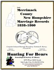 Early Merrimack County New Hampshire Marriage Records by Nicholas Russell Murray