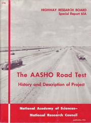 The AASHO road test by National Research Council (U.S.). Highway Research Board.