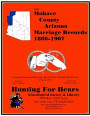 Early Navajo County Arizona Marriage Records 1895-1912 by Nicholas Russell Murray
