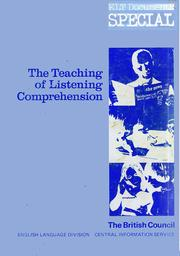 Teaching of Listening Comprehension (English Language Teaching Documents) by British Council