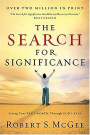The search for significance by Robert S. McGee
