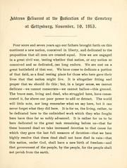 Address delivered at the dedication of the cemetery at Gettysburg, November 19, 1963 by Abraham Lincoln