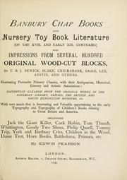 Banbury chap books and nursery toy book literature by Edwin Pearson