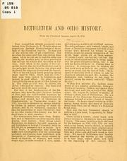 Bethlehem and Ohio history by Baldwin, C. C.