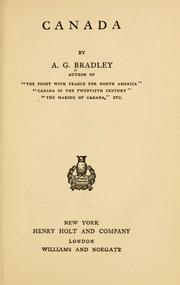 Canada by A. G. Bradley