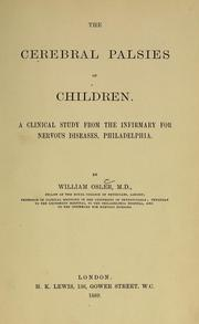 The cerebral palsies of children by Osler, William Sir
