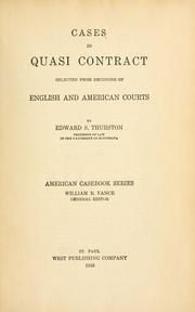 Cases in quasi contract