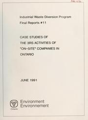 Case studies of the 3Rs activities of on-site companies in Ontario